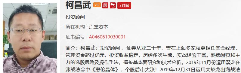 【观点】杨润泽:短线最佳买点出现!
