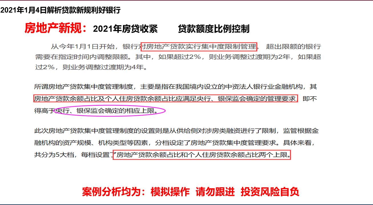 刘牛投资之银行板块回顾